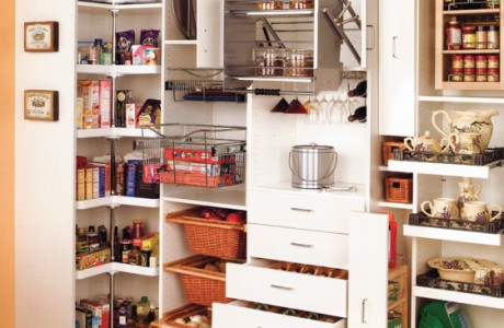 pantry and pull out drawers